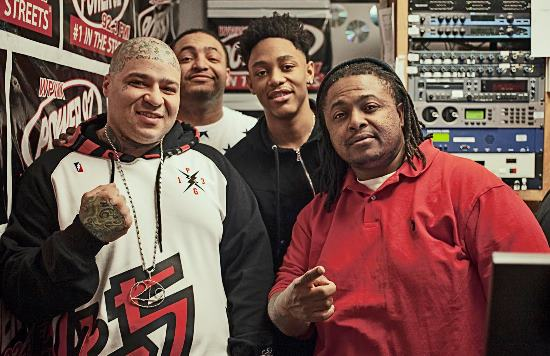 Lil George at Power 92 Chicago with Real T, Sean Dale and ChiBlizz