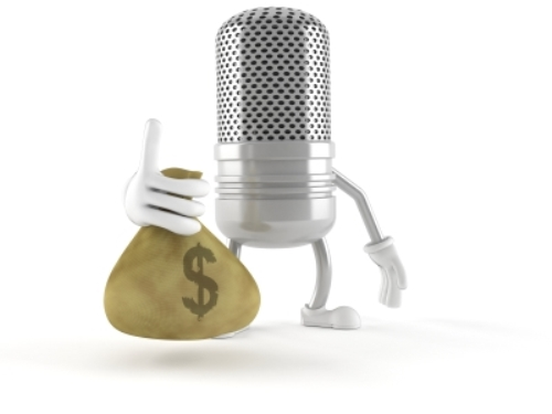 Microphone-Holding-Bag-of-Money