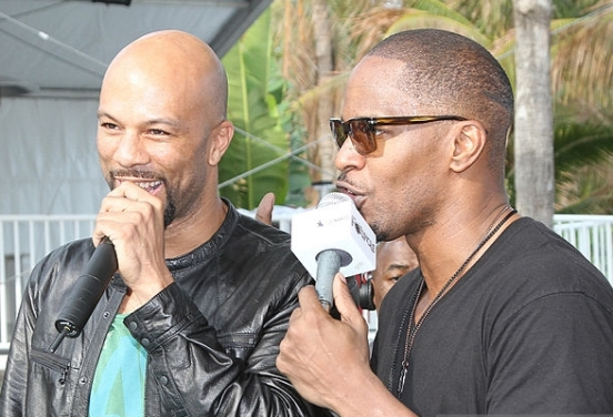 Jamie Foxx Brings his Sirius XM Foxxhole Radio to Super Bowl weekend at the Doubletree Surfcomber Hotel - South Beach on February 5, 2010 in Miami Beach, Florida.