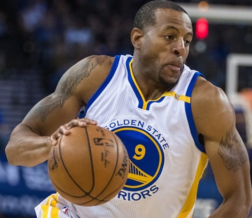 Mar 24, 2017; Oakland, CA, USA; Golden State Warriors forward Andre Iguodala (9) dribbles against the Sacramento Kings in the second quarter at Oracle Arena. Mandatory Credit: John Hefti-USA TODAY Sports
